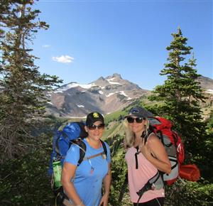 Pacific Crest Trail with my sister, Kristin