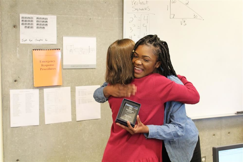 A BHS student was honored to receive the BISD STRONG Award.