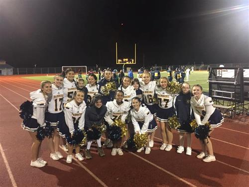 The Spirit Squad after performing at the BHS Homecoming game.