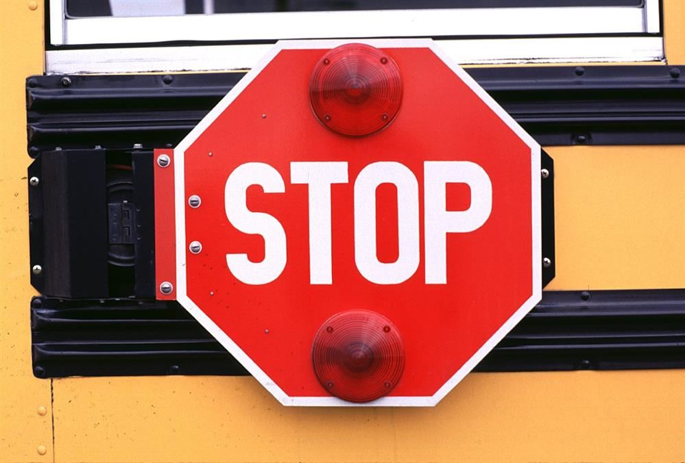 Remember to obey traffic laws, including stopping when the school bus stop paddle is activated.