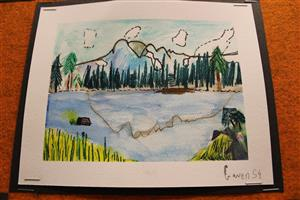4th grader watercolor