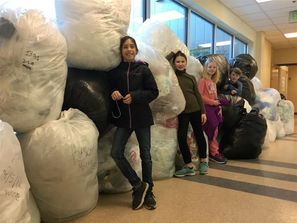 Sakai students have collected more than 1552 pounds of plastic