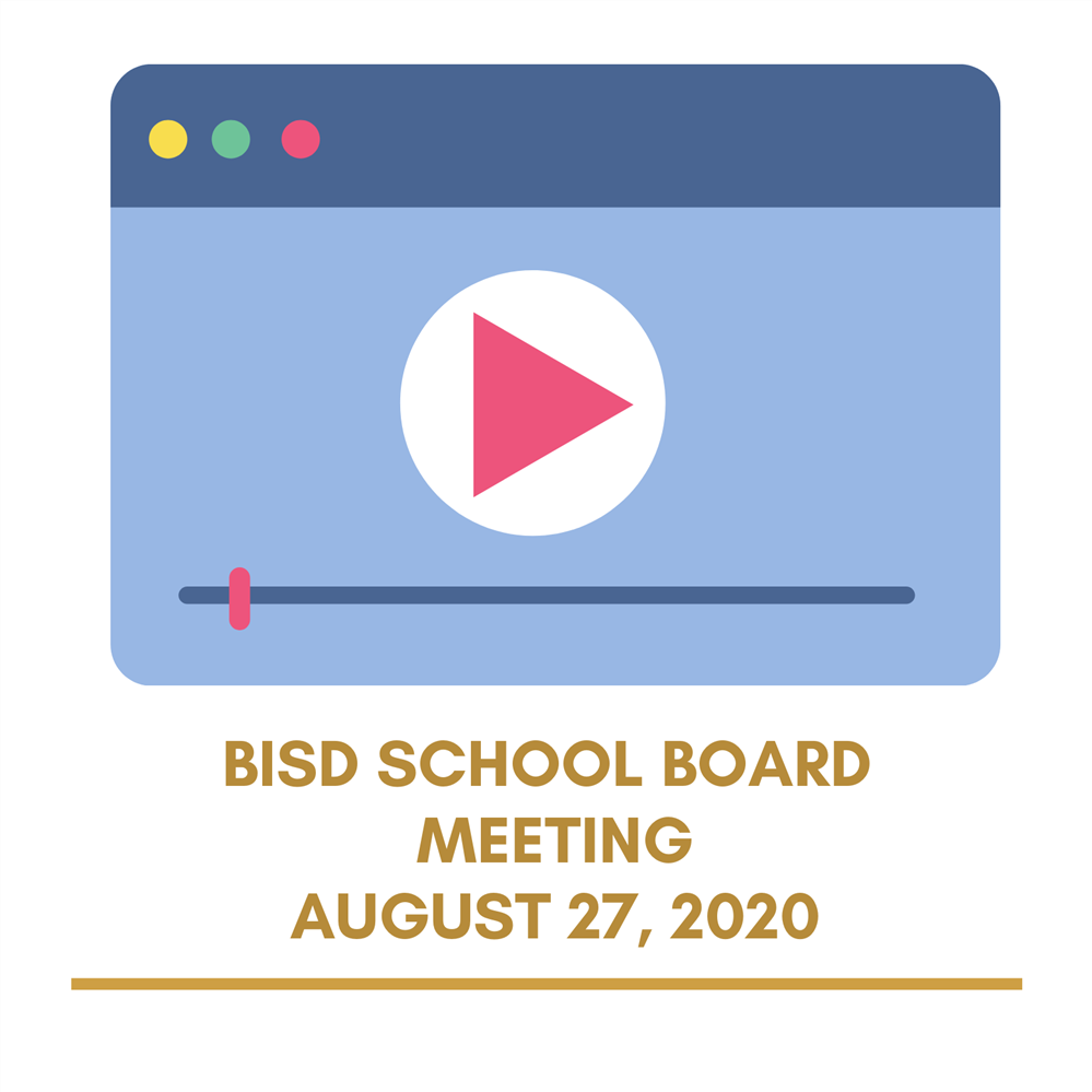 August 27, 2020 School Board Meeting